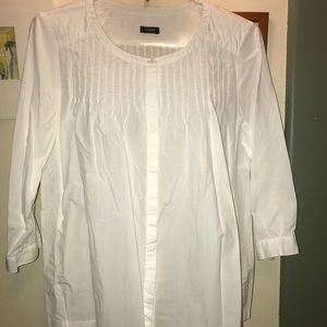 JCREW WHITE COTTON BLOUSE. Sz 10. EUC! Pretty